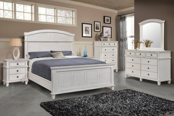Carolina Queen Panel Bed Antique White - 222871Q