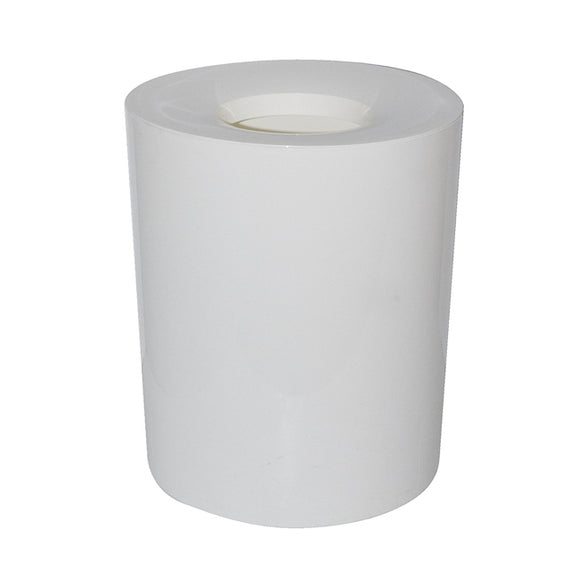 Glad Drum Waste Bin with Trim Lid 16L White Ideal for Home, Kitchen, and Bathroom Garbage,- GLD-74009