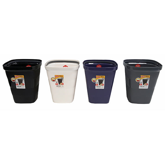 Glad Metro Waste Bin Square with Bag Rig 11L Associated Colour - GLD74010