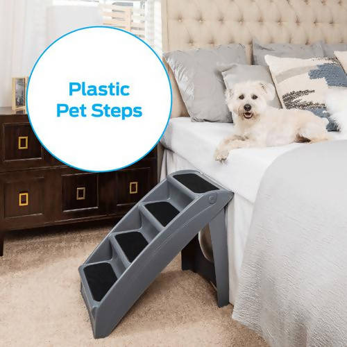 PetSafe CozyUp Folding Pet Steps, Foldable Dog Stairs for High Beds, Best for Small to Large Pets / 416070