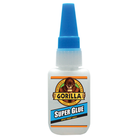 GORILLA Super Glue 15 Gram Bottle, Impact Tough, Fast Setting, Versatile, Heavy Duty Strength - 7805009