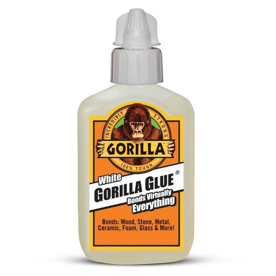 GORILLA Dries White 2 ounces, 100% Waterproof, Dries 2x Faster, Indoor and Outdoor - 5201205