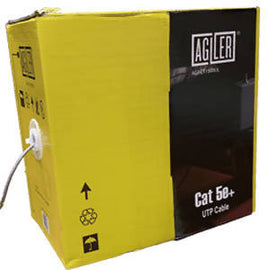 AGILER CAT5E certified UTP LAN cable, 24AWB/4P, 1000Ft CABLE - AGI-CT1500UL