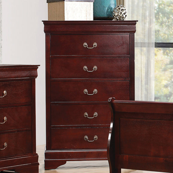 Louis Philippe 5-Drawer Chest Cherry - 222415