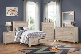 Wenham Twin Storage Bed Natural Oak - 205460T