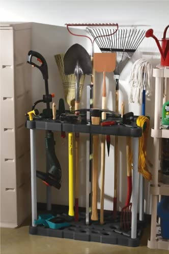 "Rubbermaid Long Handled Tool Rack 36""x37.3""x18""Great for odd shaped items like trimmers and extension cords -311733"