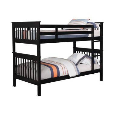 Chapman Twin Over Twin Bunk Bed Black - 460234N