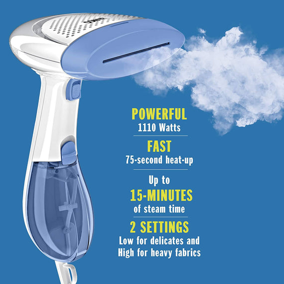 Conair Dual Heat Extreme Steam Hand Held Fabric Steamer (White/Blue) - C-GS23RS