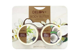 Delon+ Body Butter Coco & Vanilla 2 Units / 6.9 oz Moisturizing Body Butter with coconut oil. Scents: Coconut and Vanilla. / 449