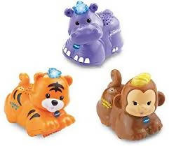 VTech Toot Toot Animals Tiger, Hippo and Monkey - 80-215333
