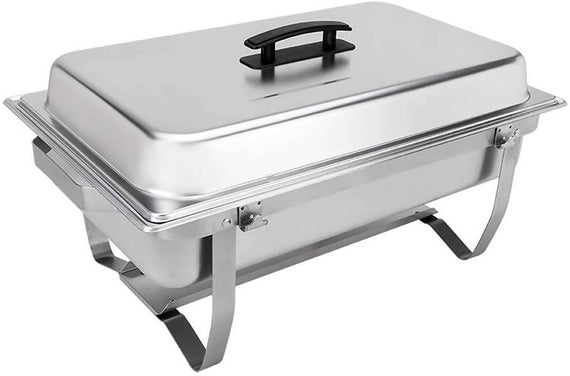 Sterno Chafting Dish 8 Qt The Sterno products foldable frame buffet chafer set is the perfect choice for catering and food service-831012
