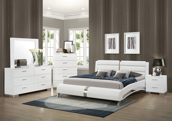 Jeremaine Queen Upholstered Bed White - 300345Q