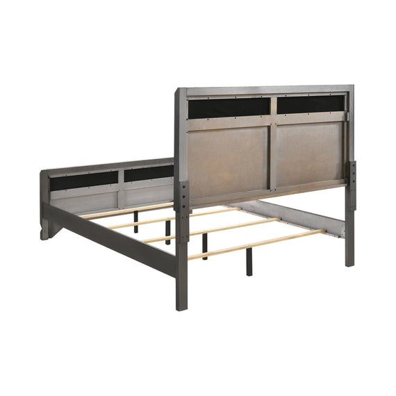 Noma California King Panel Bed Caviar And Grey - 215901KW