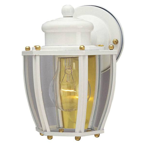 Westinghouse 1 Light Outdoor Wall Lantern with Clear Curved Glass,66962
