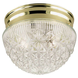 Westinghouse Lighting Flush Mount Ceiling Light Fixture Polished Brass, 66698