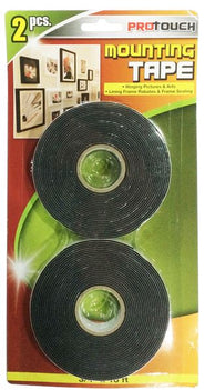 ProTouch Durable, Secure Bonding, Multipurpose, Mountain Tape Black 2 PC - CH89076 PROTOUCH MEGA