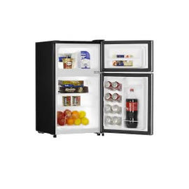 Hisense 3.3 cu Refrigerator RT33D6AAE his 3.2 cu.ft. two door refrigerator is great for college students, next to your desk at work, or in the garage -711151