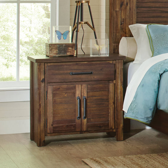 Sutter Creek 2-Door Nightstand Vintage Bourbon - 204532