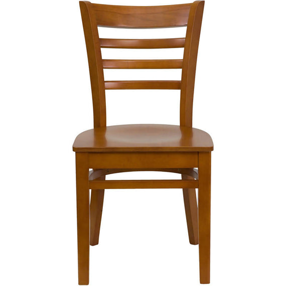 HERCULES Series Ladder Back Cherry Wood Restaurant Chair [XU-DGW0005LAD-CHY-GG]