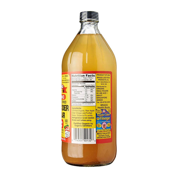 Bragg Apple Cider Vinegar 32oz - 07430500132
