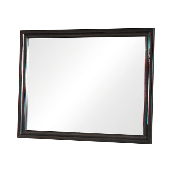 Barzini Rectangular Mirror Black - 200894