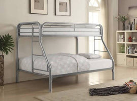 Morgan Twin Over Full Bunk Bed Silver - 2258V