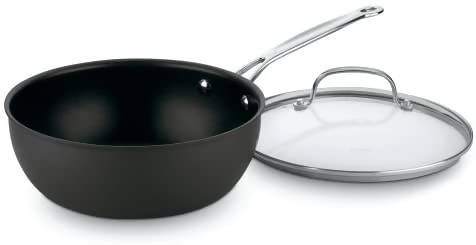 Cuisinart Chef's Classic Nonstick Hard-Anodized 3-Quart Chef's Pan with Cover - CU-635-24