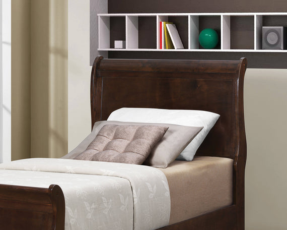 Louis Philippe Twin Sleigh Headboard Cappuccino - 202411TH