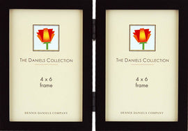 Dennis Daniels Gallery Woods Hinged Double Vertical Picture Frame (Olive Green) - W4104DG