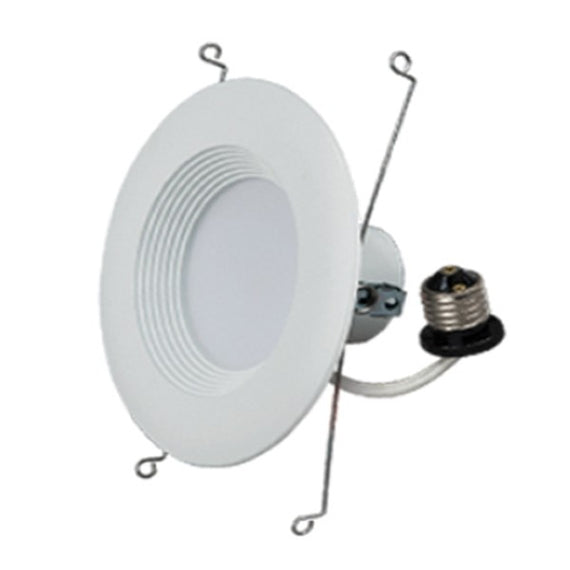 Energetic Lighting 6 Inch LED Recessed Downlight, Smooth Trim, Dimmable, 11.5W=65W, Warm White 2700K. Pvc Cover, Damp Rated,White Finish Simple Retrofit Installation - UL + Energy Star,Suitable for Type IC or NoN-IC Recessed Luminaires-ELDLF-E6WTW