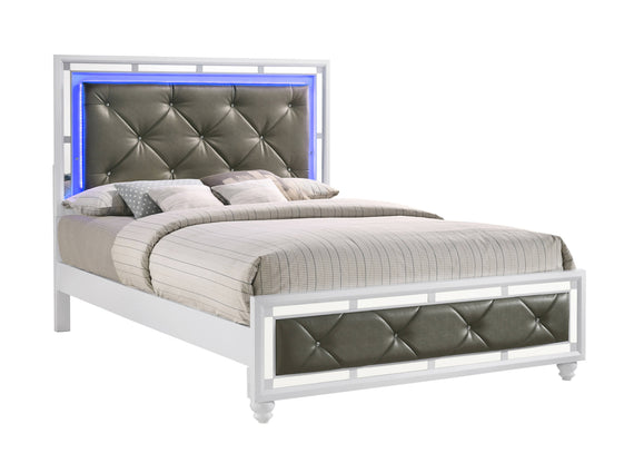 Whitaker Queen Bed With LED Lighting White - 223331Q
