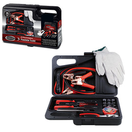 Auto Effects Roadside Tool Kit in Carrying Case 35 Piece Set -A Must Have For Automotive Emergencies, Ideal For Roadside Assistance And Fits Into The Corner Of A Trunk Or Under A Car Seat - RTK62055