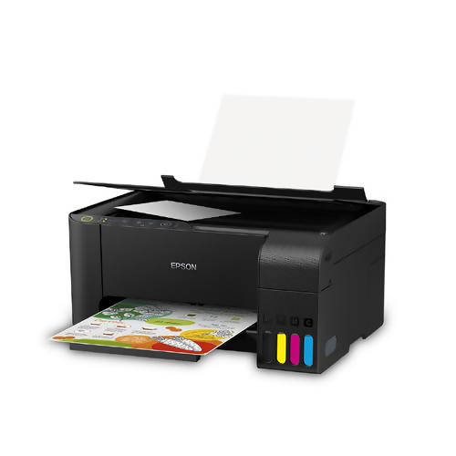Epson EcoTank L3150 Printer - Save more with Epson's economical and multifunctional printing solutions, which integrated ink tank enables spill-free, error-free refilling with individual bottles that have designated nozzles - 13117