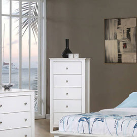 Selena 5-Drawer Chest White - 400235