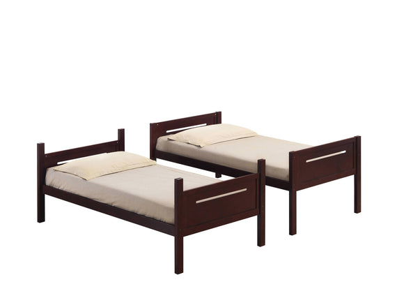 Littleton Twin/Twin Bunk Bed Espresso - 405051BRN