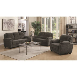 Northend Upholstered 3pc Living Room Set Charcoal - Set3P506241