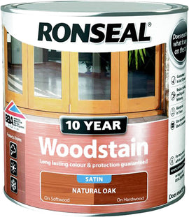 Ronseal 10 Year Woodstain (Natural Oak) 2.5 Litres - 38694