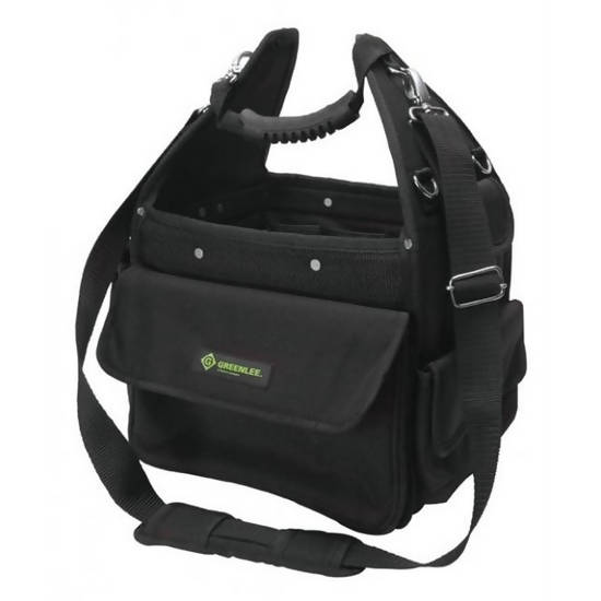"Greenlee 11"" Cordura Open Tool Carrier features thirtyseven pockets and loop design to keep tools organized - 56336"