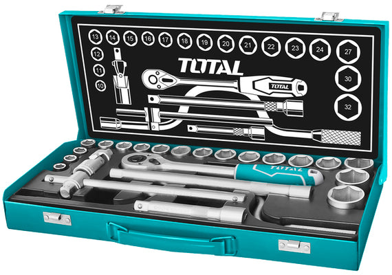 "TOTAL 24PCS 1/2"" SOCKET SET THT141253"