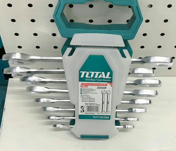 TOTAL DOUBLE OPEN END SPANNER SET 8PCS (THT102386)