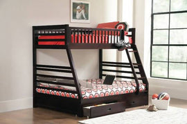 Ashton Twin Over Full 2-Drawer Bunk Bed Cappuccino - 460184