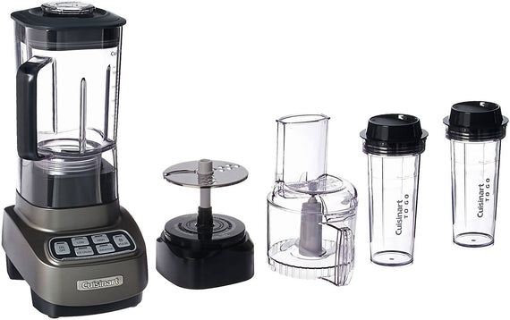 Cuisinart Velocity Ultra Trio 1 HP Blender/Food Processor with Travel Cups (Gun Metal) - CU-BFP-650GM
