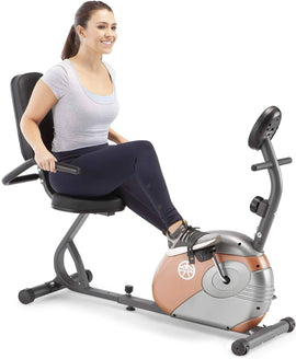 Marcy Recumbent Bike ME 709 Whether you want to boost your cardiovascular endurance or shed pounds, the Marcy Recumbent Exercise Bike is the perfect workout equipment to add to your home gym - 989855