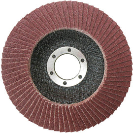 "Total 4 1/2"" (115x22mm) 60 Grit Flap Disc - Ideal for steel, cast iron and sheet steel - TAC631152"