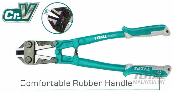 "Total 24"" (10MM) Heavy Duty Industrial Bolt Cutter - Cuts Bolts, Chain, Threaded Rod, Cable Wire and More - THT113246"