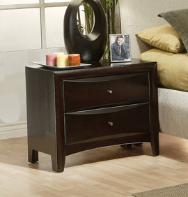 Phoenix 2-Drawer Nightstand Deep Cappuccino - 200412
