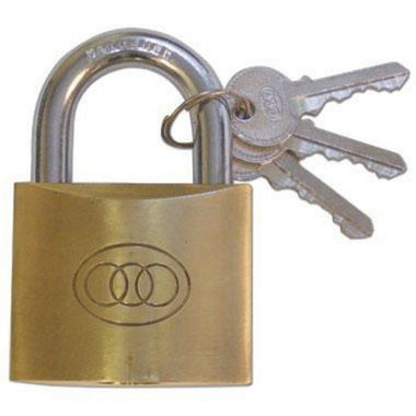 TRI - CIRCLE SOLID BRASS PADLOCK 40MM