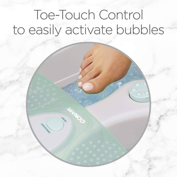 Conair Foot Spa with Heat, Bubbles & 3 Attachments - Wash away the day's cares with a soothing foot spa - C-FB27R