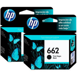 HP Ink 662 Black Cartridge 2 Pack - print all the everyday black text and graphics documents they need—at a low cost - 888662