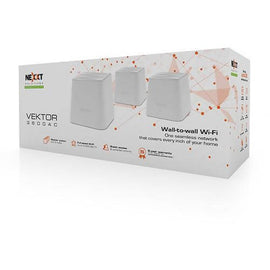 Nexxt Solutions Whole Home Mesh WiFi-3-Pack, AC3600 Ultra High Performance, Seamless Roaming Adaptive Routing-6+ Bedrooms 4,000+ Sq-Ft Coverage /777637